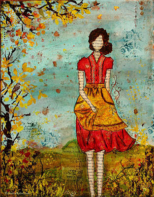 The Trees Mixed Media - A Prairie Autumn Day by Janelle Nichol