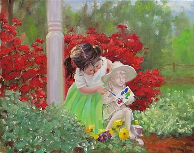 Red Flowers Painting - A Precious Memory by Laura Lee Zanghetti