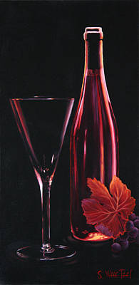 Wine-bottle Painting - A Prelude To Romance by Sandi Whetzel