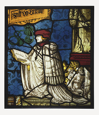 Leaded Came Glass Painting - A Premonstratensian Canon Unknown Maker, Swiss, Close by Litz Collection