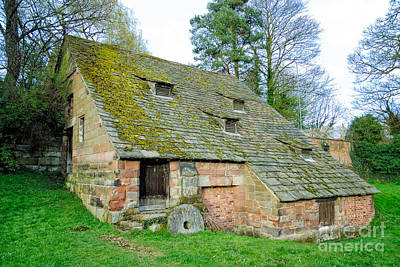 A Preserved Corn Mill From Medieval England - Nether Alderley Mill - Cheshire Art Print