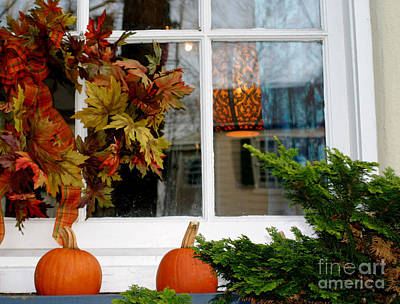 Photograph - A Pretty Autumn Window by Living Color Photography Lorraine Lynch