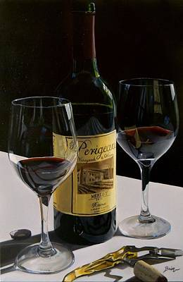 Wine Oil Painting - A Private Reserve by Brien Cole