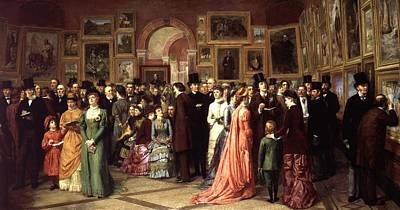 A Private View Art Print by William Powell Frith