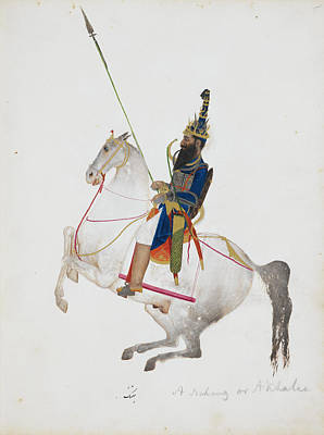 A Prosperous Akali Mounted On Horseback Art Print
