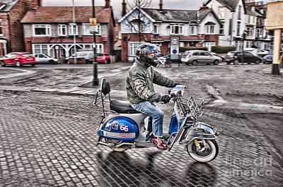Colourfull Photograph - A Proud Mod by David  Hollingworth