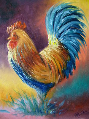 A Proud Rooster Art Print by Collette Bortolin