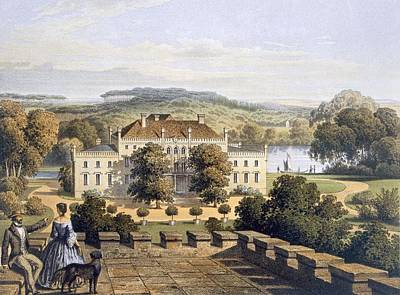 Garden Drawing - A Prussian Royal Residence, C.1852-63 by German School