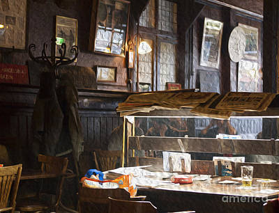Digital Art - A Pub In Amsterdam by Patricia Hofmeester