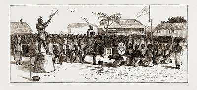 Ghana Drawing - A Public Execution At Coomassie by Litz Collection