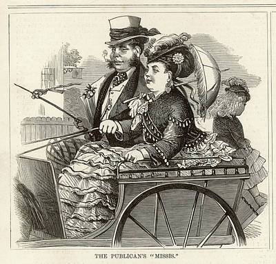 Plump Women Wall Art - Drawing - A Publican And His Wife In Their Best by Mary Evans Picture Library