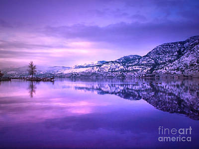 Skaha Lake Photograph - A Purple Tuesday by Tara Turner