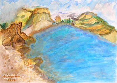 A Quiet Beach  Art Print