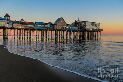 Surfing Maine Photograph - A Quiet Evening At The Pier by Joe Faragalli