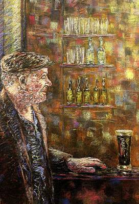 A Quiet Guinness Art Print by John  Nolan