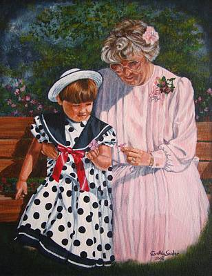 Polkadots Painting - A Quiet Moment by Cynthia Snider