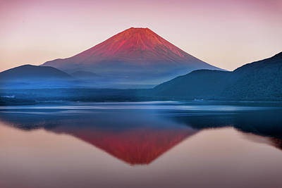 A Quiet Time, Mt,fuji In Japan Art Print