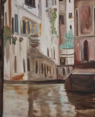 A Quiet Venice Canal Art Print