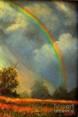 Painting - A Rainbow's Promise by Hazel Holland