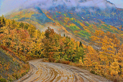 Photograph - A Rainy Autumn Morning 2  by Allen Beatty