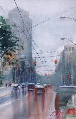 A Rainy Day In Dayton Art Print