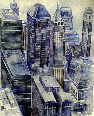 Painting - Rainy Day In Gotham by Jeffrey S Perrine