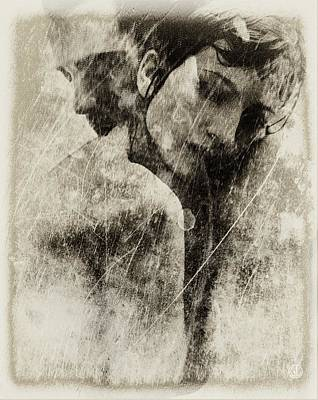 Hugs Digital Art - A Rainy Day We Need Closeness by Gun Legler