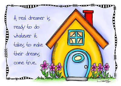 A Real Dreamer Art Print by Debi Payne