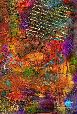 Mixed Media - A Really Long Love Letter by Angela L Walker