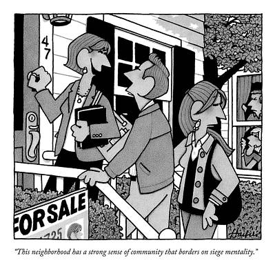 A Realtor Is Showing A House In A Very Nosey Art Print