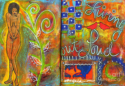 Art Journal Mixed Media - A Rebirth Of Sorts by Angela L Walker