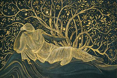 Painting - A Reclining Female Figure by Edward Burne-Jones