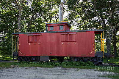 A Red Caboose - Scenic Railroad North Conway Art Print