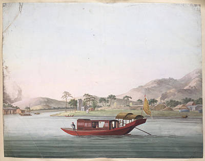 Illustration Technique Photograph - A Red Coloured Boat by British Library