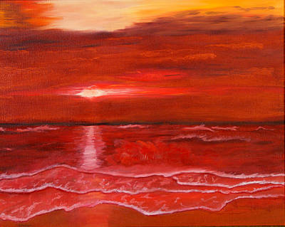 Painting - A Red Sunset by J Cheyenne Howell
