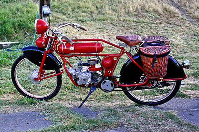 Photograph - A Red Vintage Ride by Joseph Coulombe