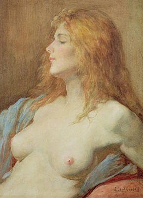 Erotica Painting - A Redhead by John Edward Goodall