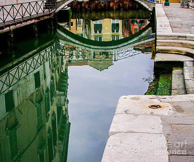 Abstract Stripe Patterns - A reflection in a canal by Martha J Kenyon