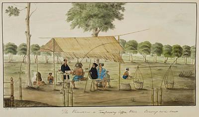 A Refreshment Stall Near Gunung Sari Hous Art Print by British Library