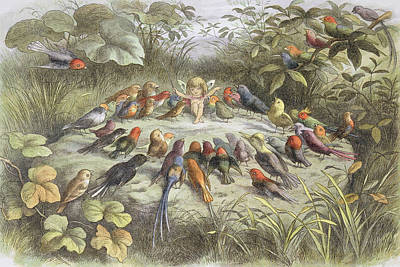 A Rehearsal In Fairy Land, Illustration Art Print by Richard Doyle