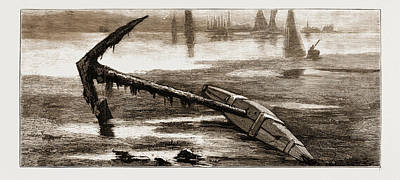 Found Art Drawing - A Relic Of The Franklin Arctic Expedition Anchor Belonging by Litz Collection
