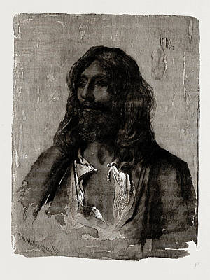 Religious Art Drawing - A Religious Mendicant by Litz Collection