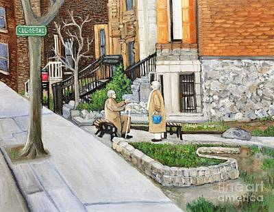 A Rest On Summerhill Avenue Art Print by Reb Frost