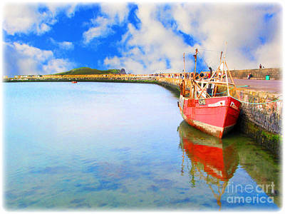 A Resting Boat Howth Ireland Art Print by Jo Collins