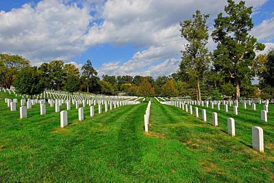 Photograph - A Resting Place  Arlington National Cemetery Virginia by Willie Harper
