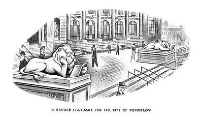 Revising Drawing - A Revised Statuary For The City Of Tomorrow by Richard Taylor