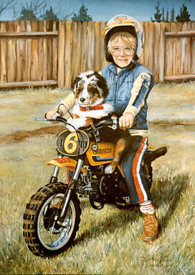 Painting - A Ride In The Backyard by Donna Tucker