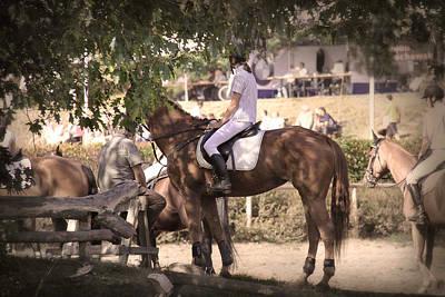 A Rider On A Horse Art Print