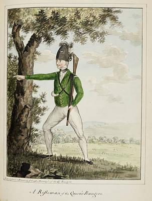 A Rifleman Of The Queen's Rangers Art Print by British Library