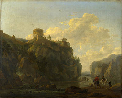 Painting - A River Between Rocky Cliffs by Lodewijck van Ludick